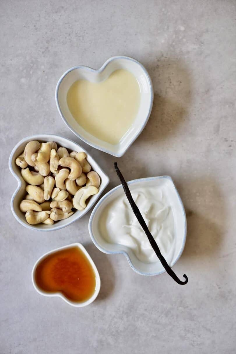 ingredients for dairy-free vanilla ice-cream