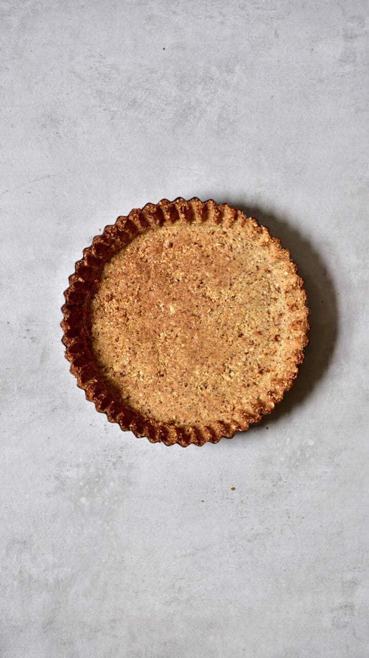 baked vegan hazelnut tart dessert crust