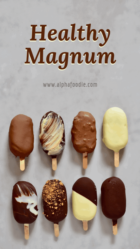 vegan magnum ice cream bars - with raspberry chia jam and salted caramel fillings
