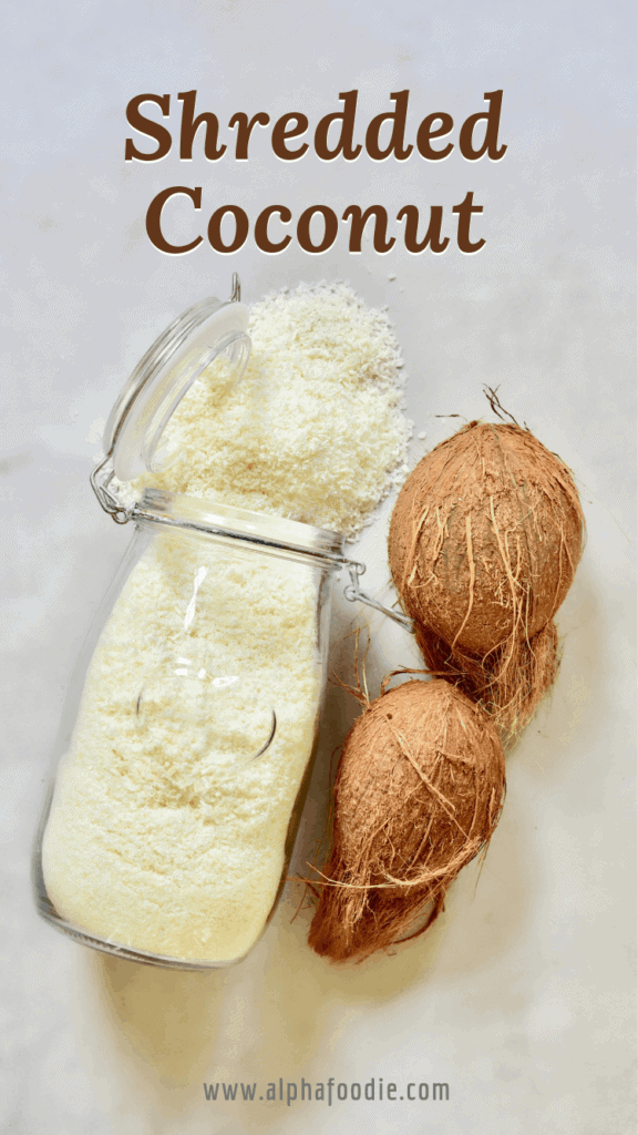homemade shredded coconut DIY