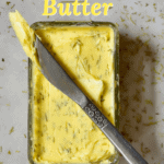 Homemade compound butter with rosemary