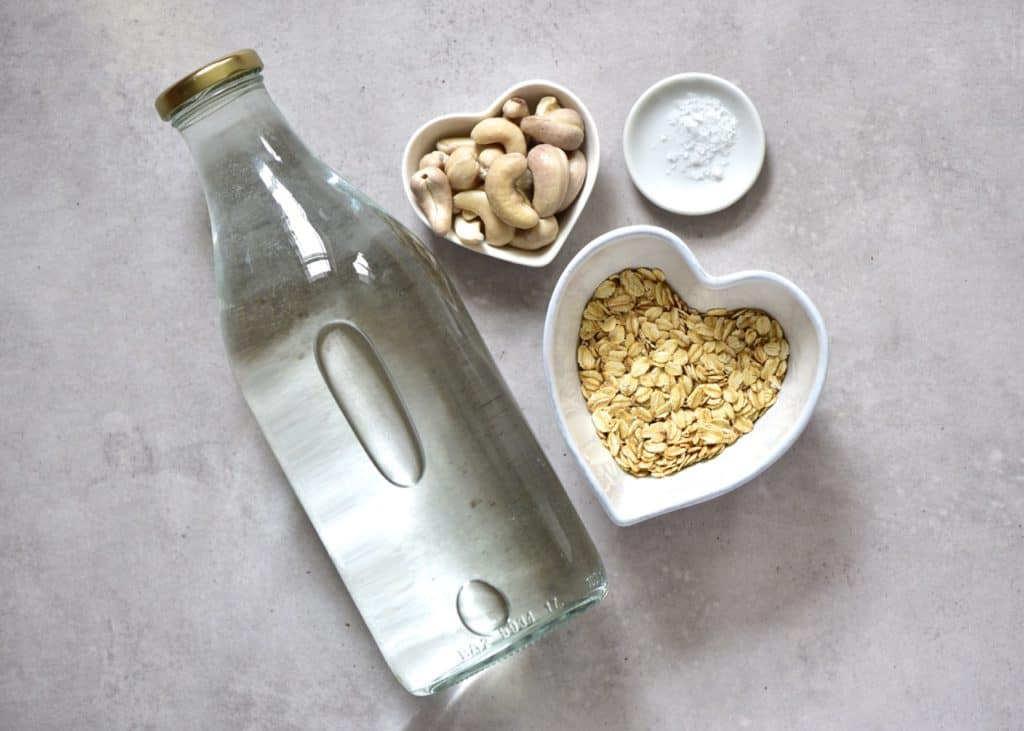 homemade oat milk that isn't slimy. ingredients for oat milk