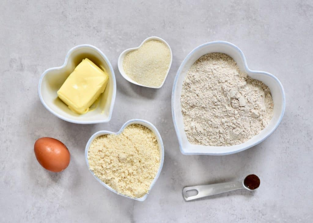 ingredients for a fluffy biscuit base