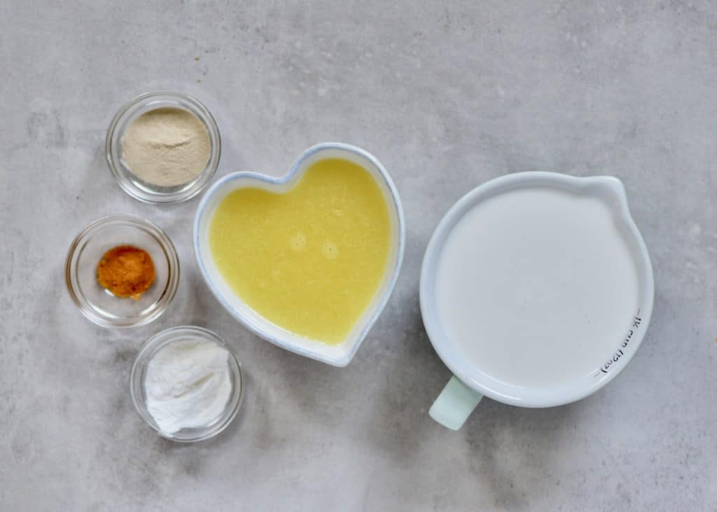 ingredients for a dairy-free lemon tart filling