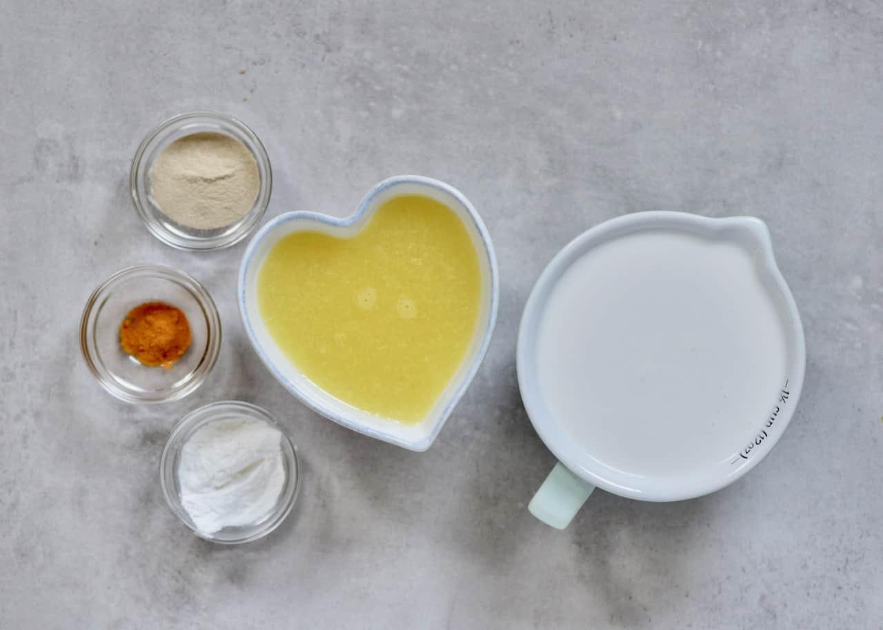 Ingredients for lemon filling