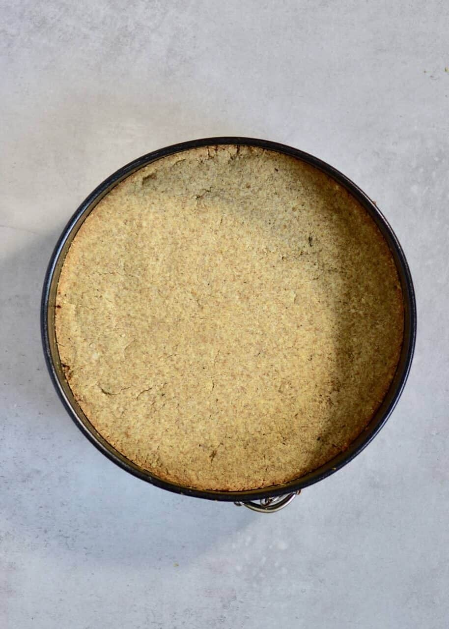 fluffy baked biscuit base for a tart