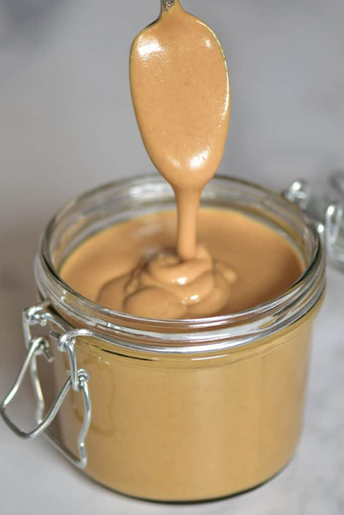Homemade Peanut Butter to make super easy dairy-free nut milk