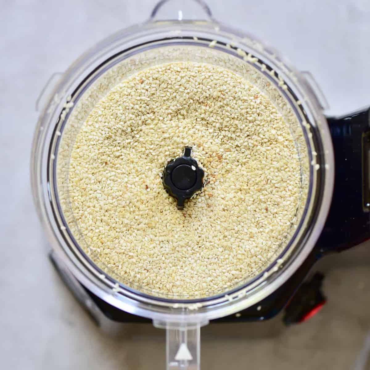 sesame seeds in a blender