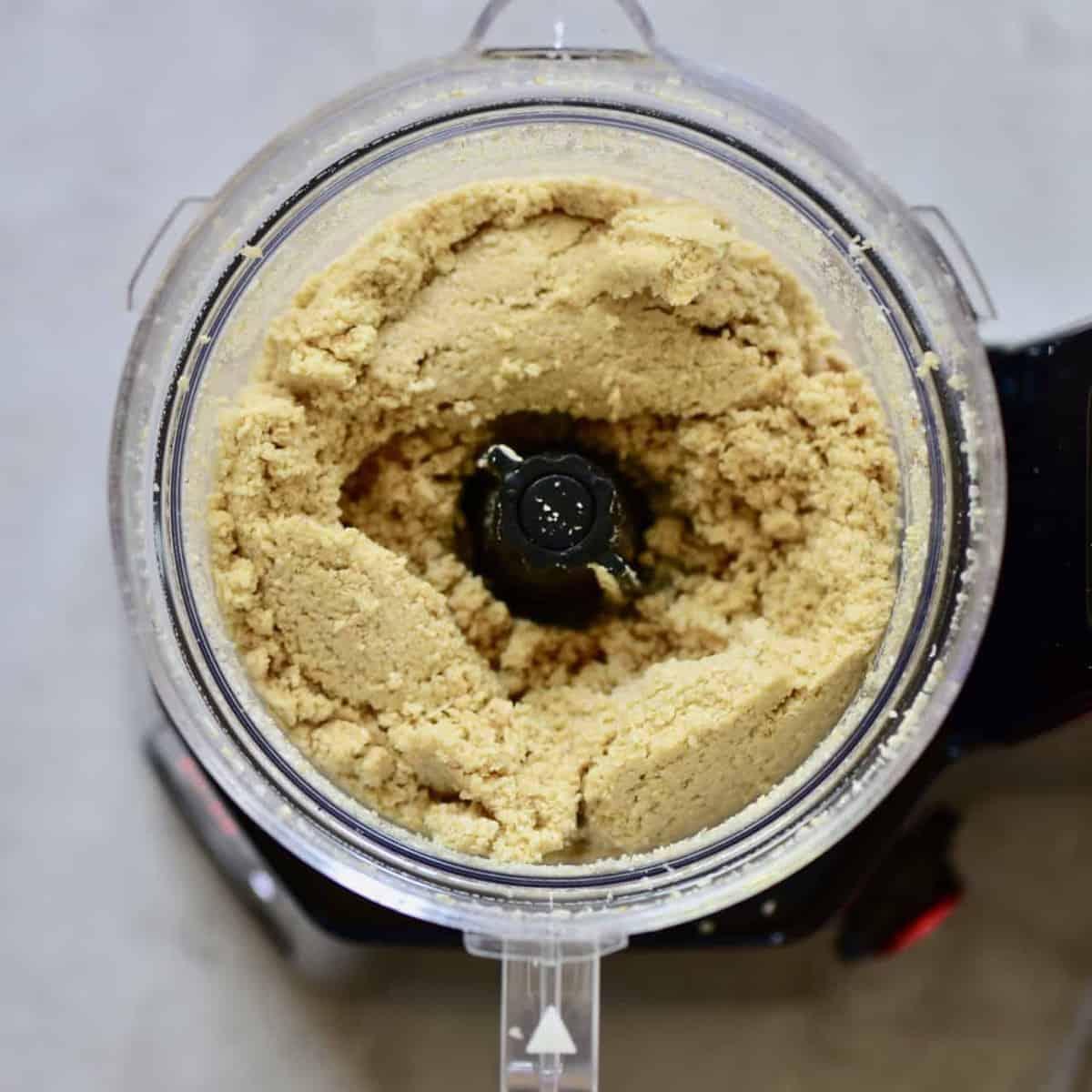 sesame seeds being blended