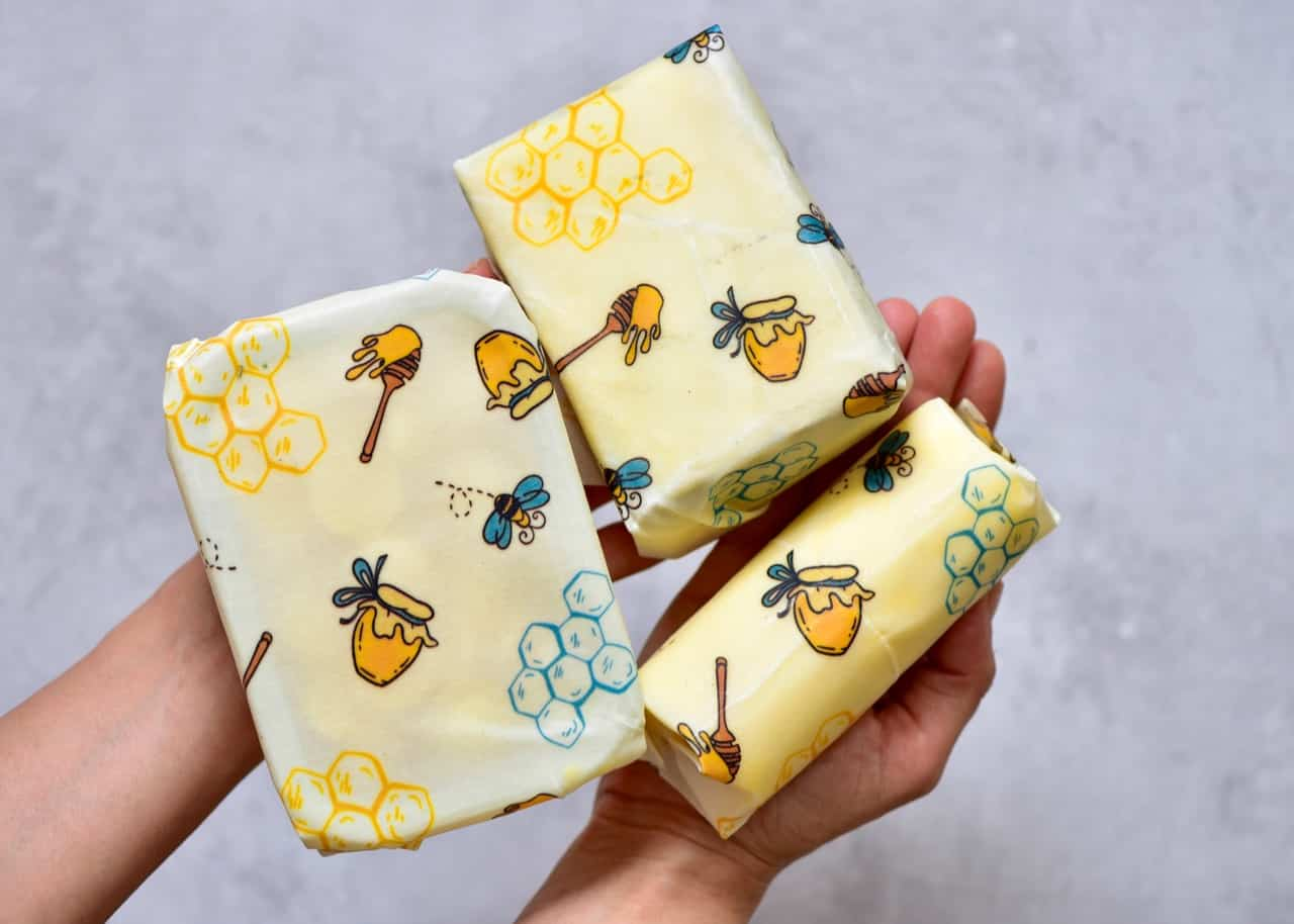 how to organise your fridge to reduce waste, using beeswax wraps