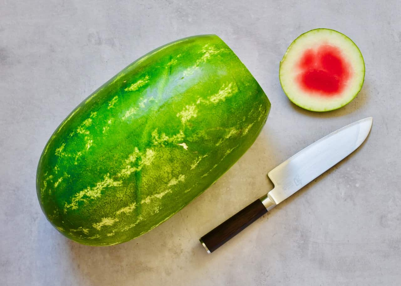 watermelon with the top cut off