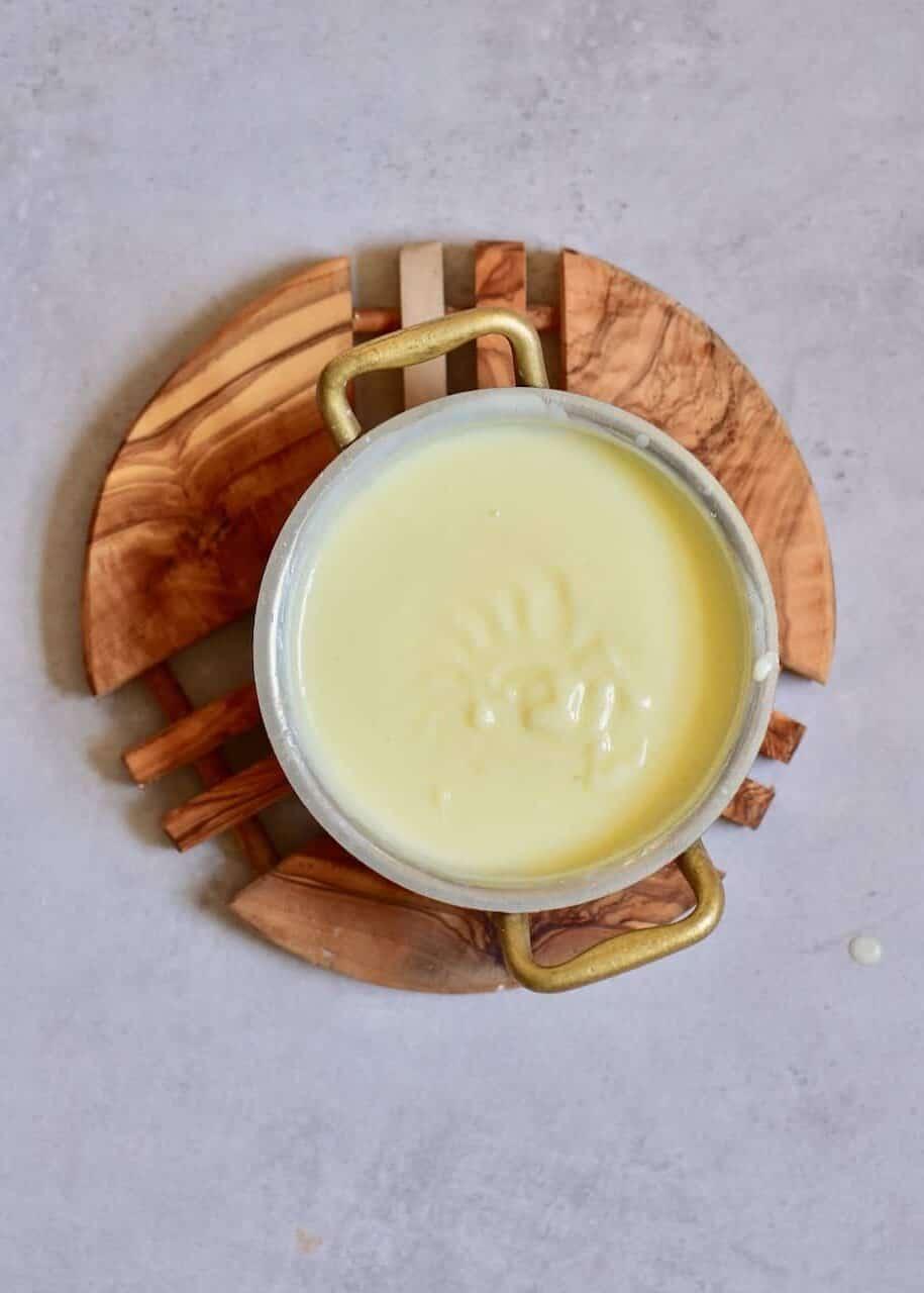 Melted vegan butter