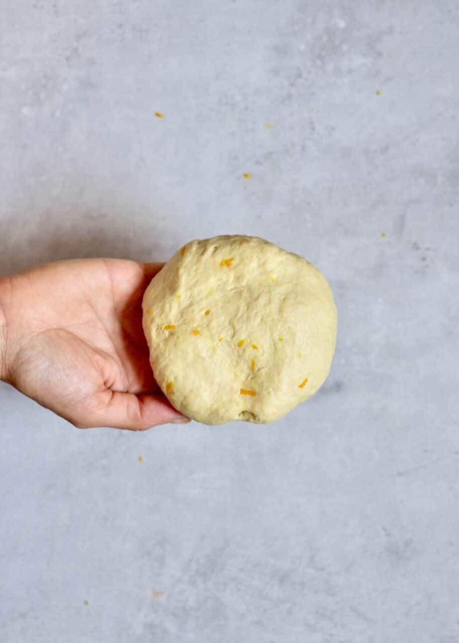 Dough with orange zest