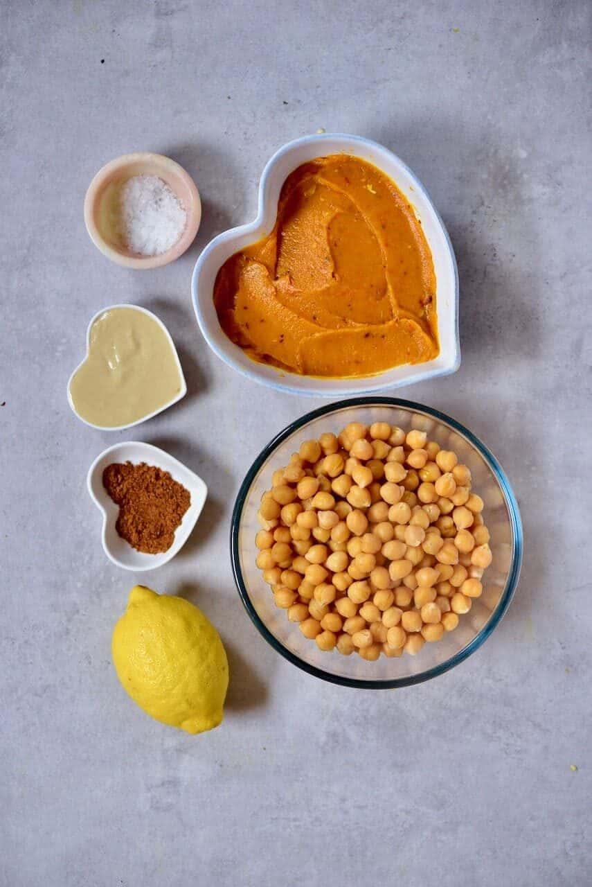 Ingredients for pumpkin hummus
