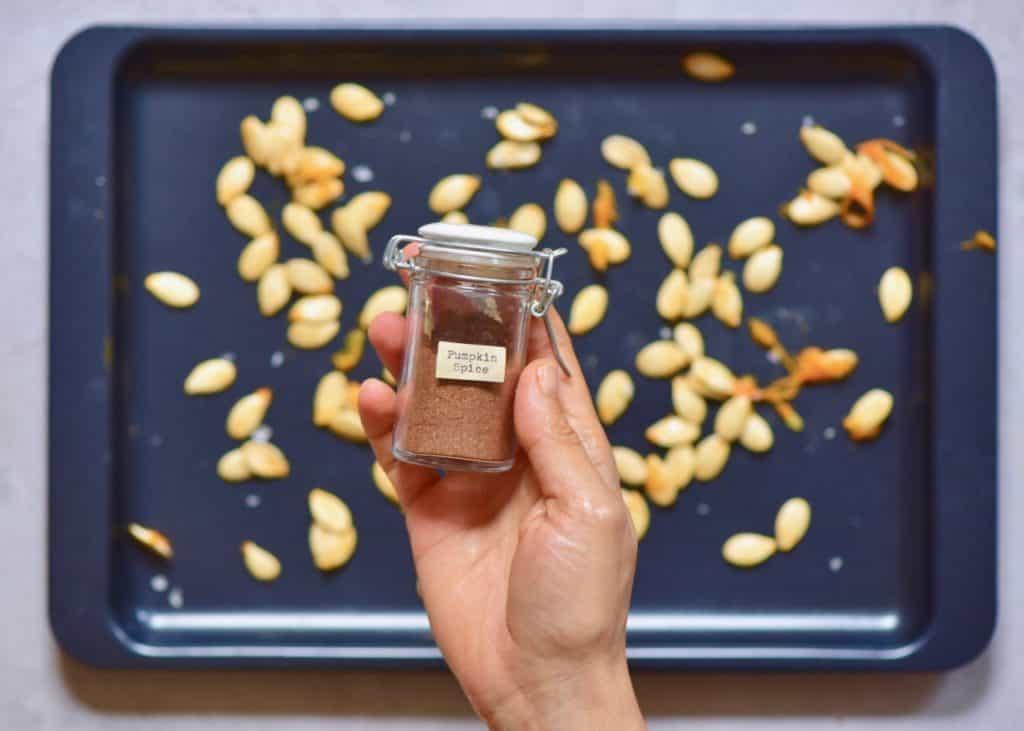 homemade baked pumpkin seeds