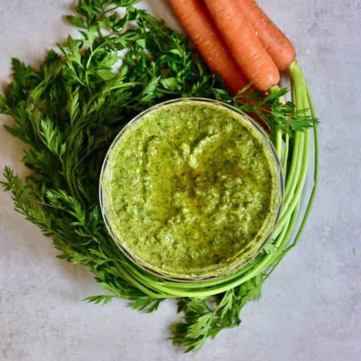 Carrot Leaf Pesto