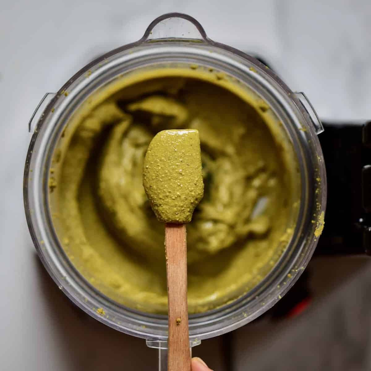 blending up some homemade pistachio butter