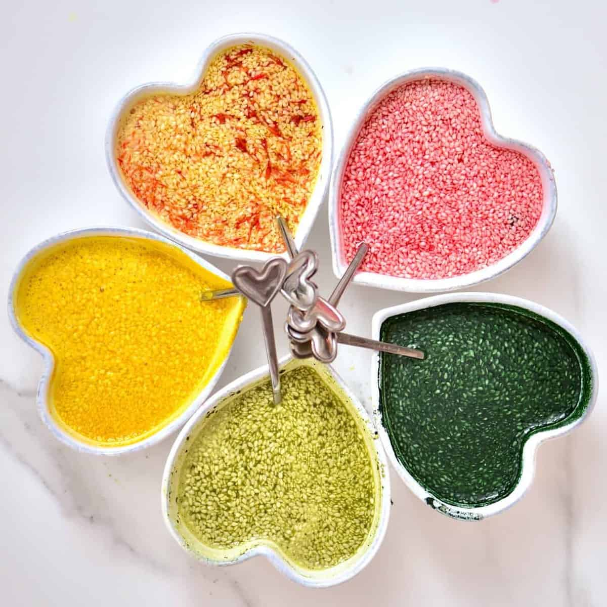 100% natural food colouring for sesame seeds
