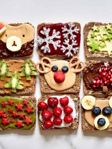 Christmas breakfast ideas. healthy festive toast