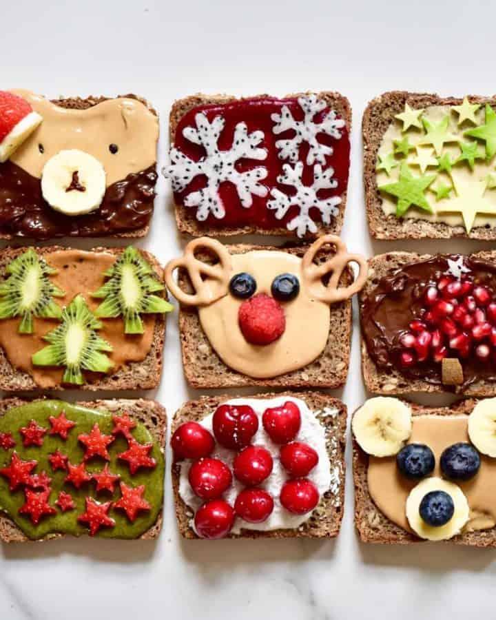 Christmas breakfast ideas. healthy festive toast