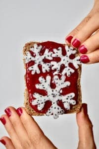 festive toast with homemade cranberry sauce