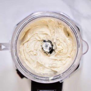 blending bananas to make a delicious nicecream recipe for a christmas ice cream