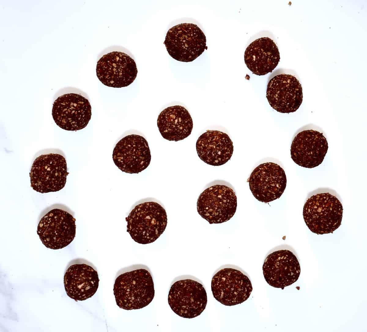 cacao & almond no bake protein balls recipe