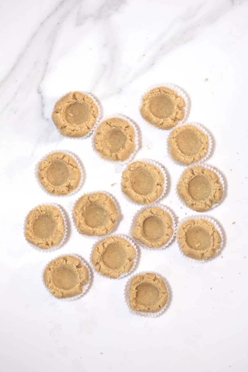 thumbprint no-bake cookie bases