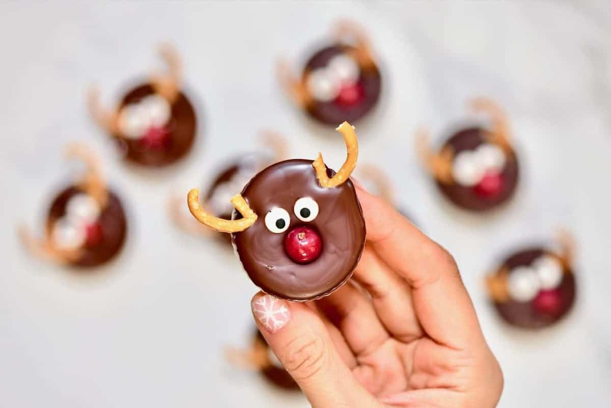 Holiday Reindeer - Healthy Chocolate Peanut Butter Cups