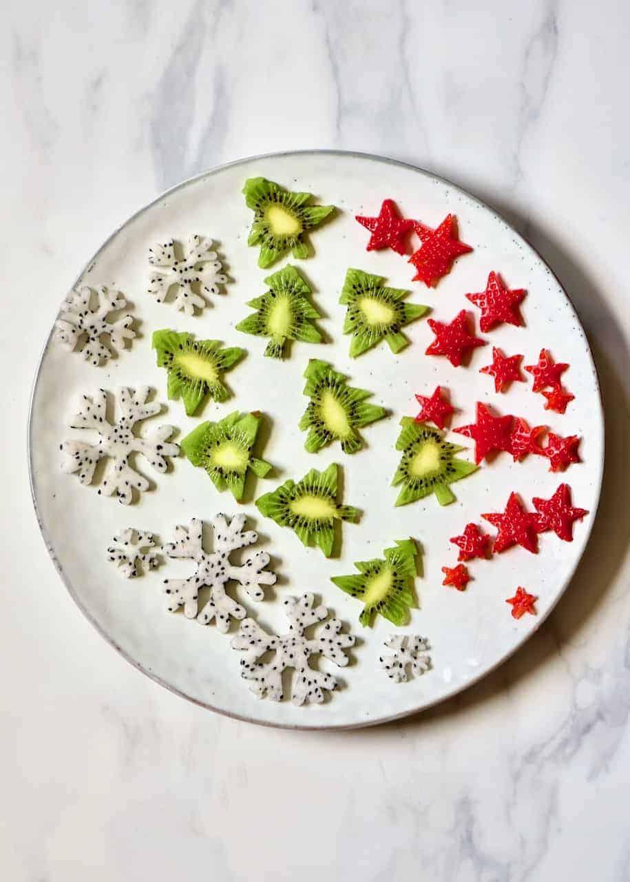 fruit cut into festive shapes