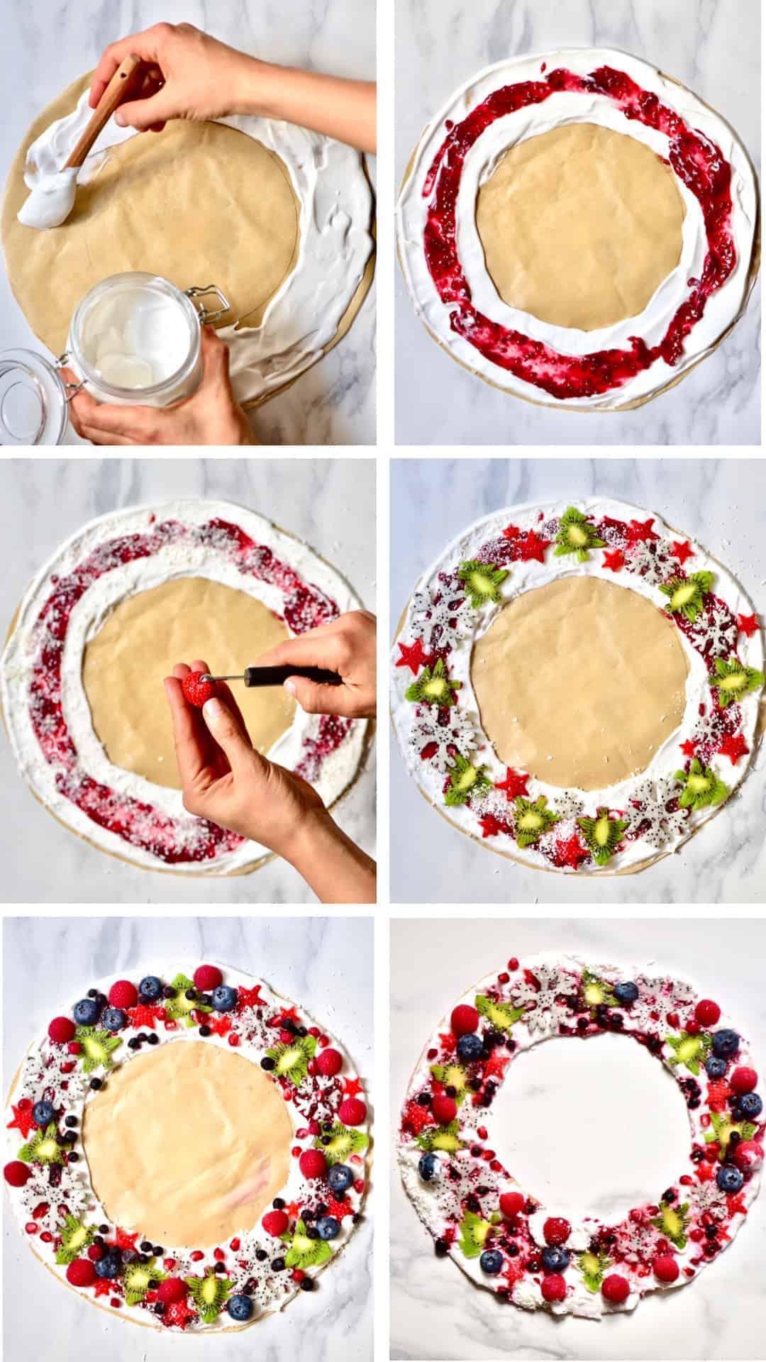 festive healthy christmas frozen yogurt wreath