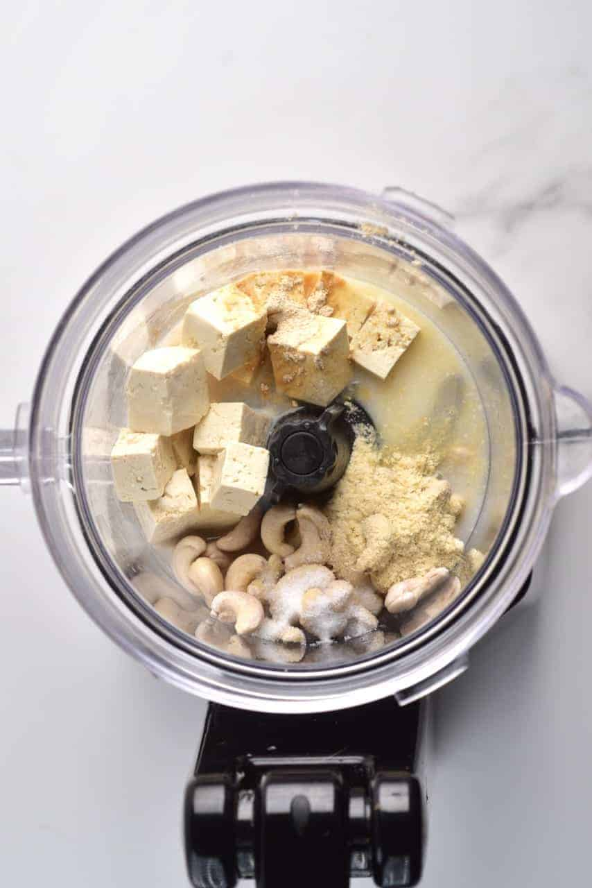 making vegan feta cheese with tofu and cashews
