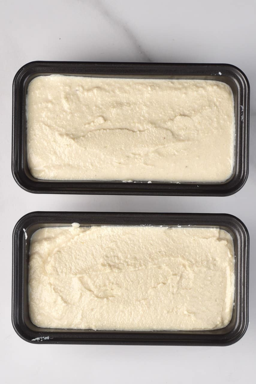placing vegan feta into moulds