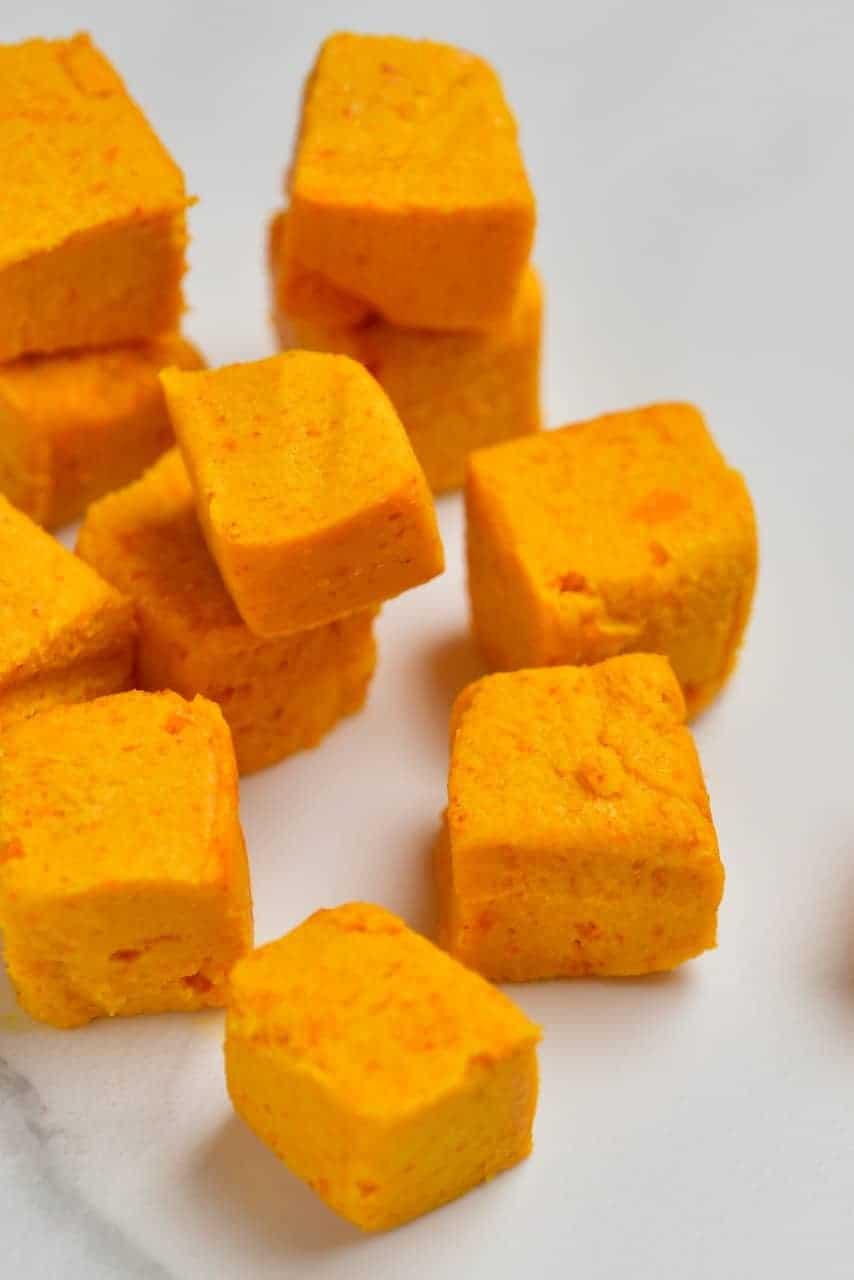Vegan Cheddar Cheese Cubes