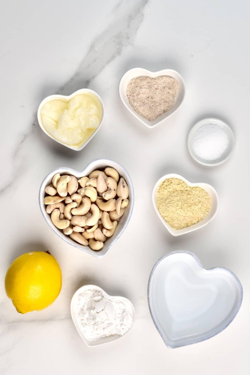 ingredients for dairy free mozzarella