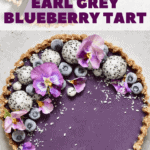 This healthy, refined sugar-free, no-bake vegan Earl Grey blueberry Tart with an almond/coconut base is a delicious addition to any afternoon tea or to impress guests this Summer!