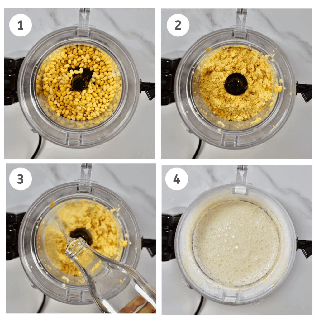 Making soy milk steps