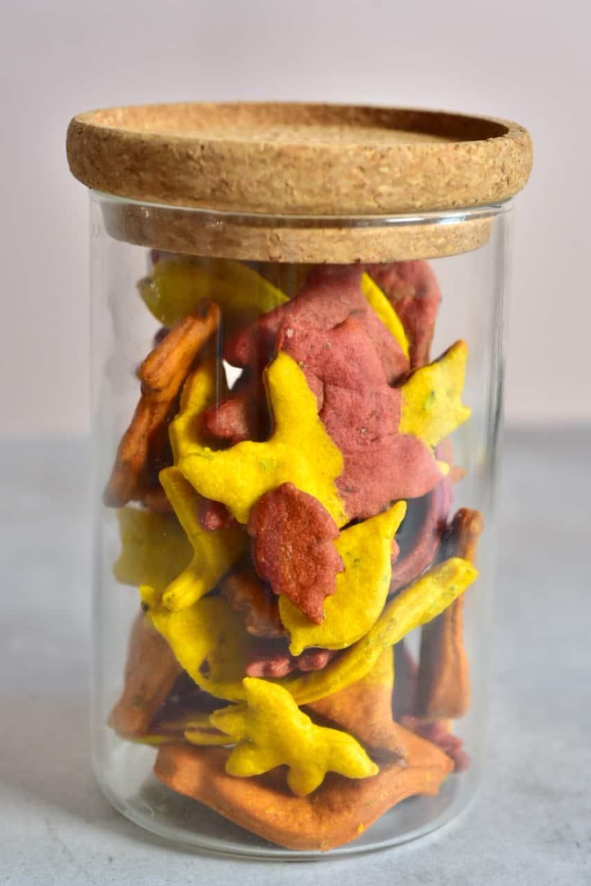 Autumn Leaf Crackers in a jar