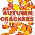 Autumn Leaf Crackers on a white marble top