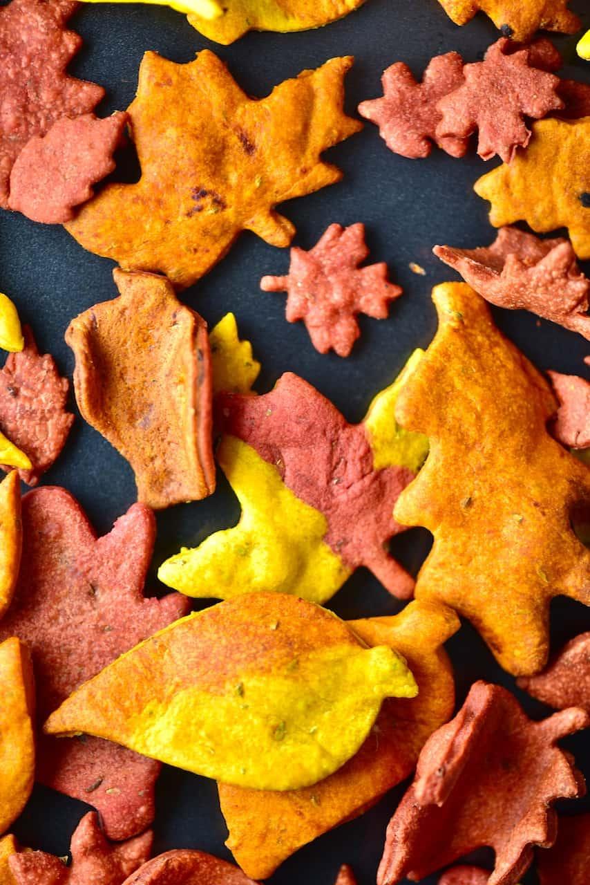 Close up of Autumn Leaf Crackers
