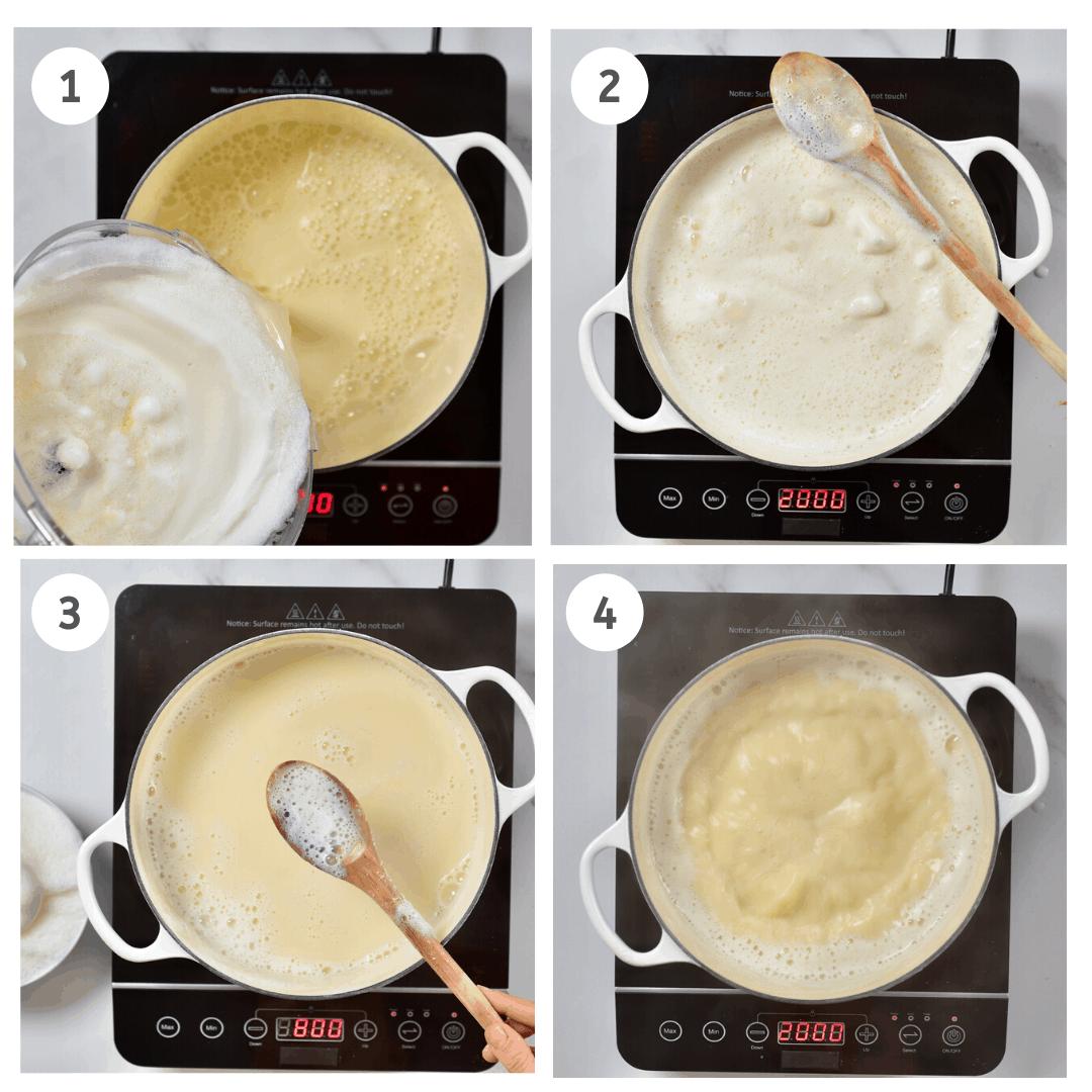 Boiling soy milk steps