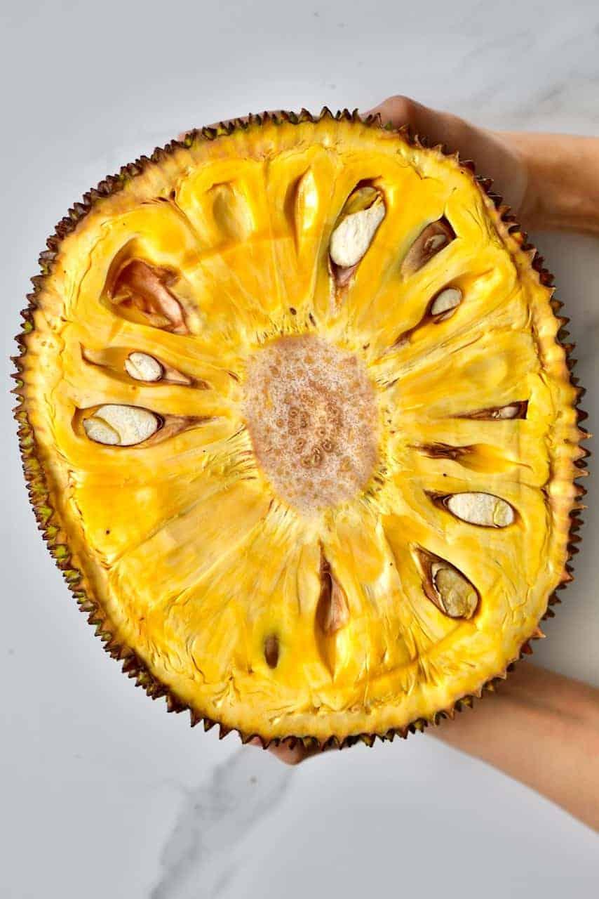 Cut open jackfruit