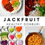 Donburi Jackfruit bowl steps