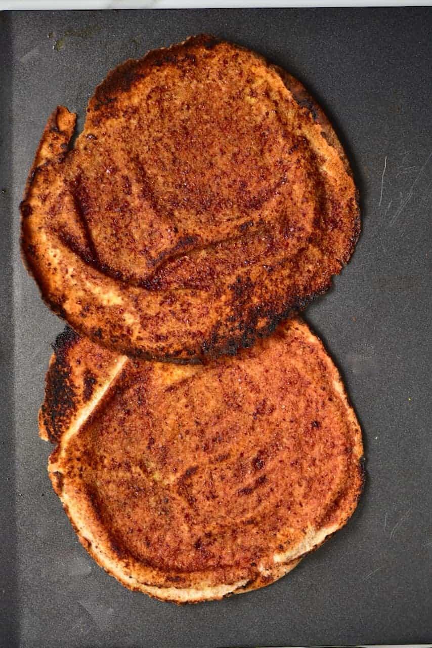 toasted lebanese pitta bread