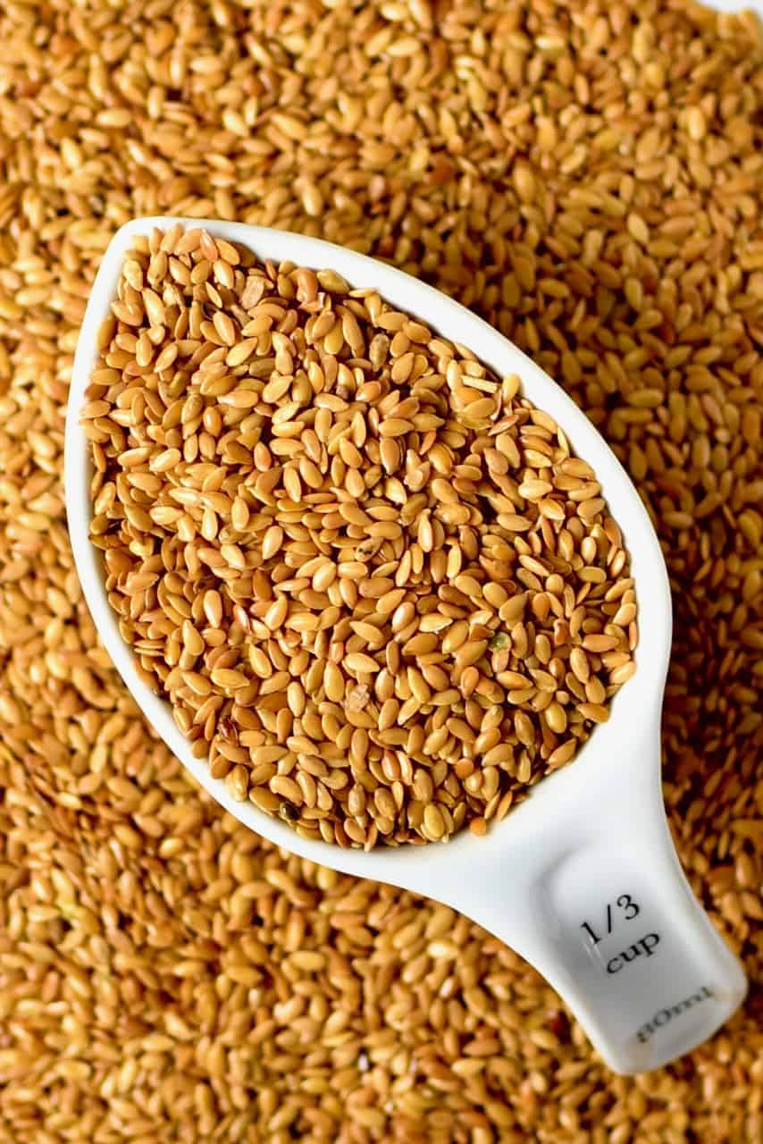 Flaxseed in a cup