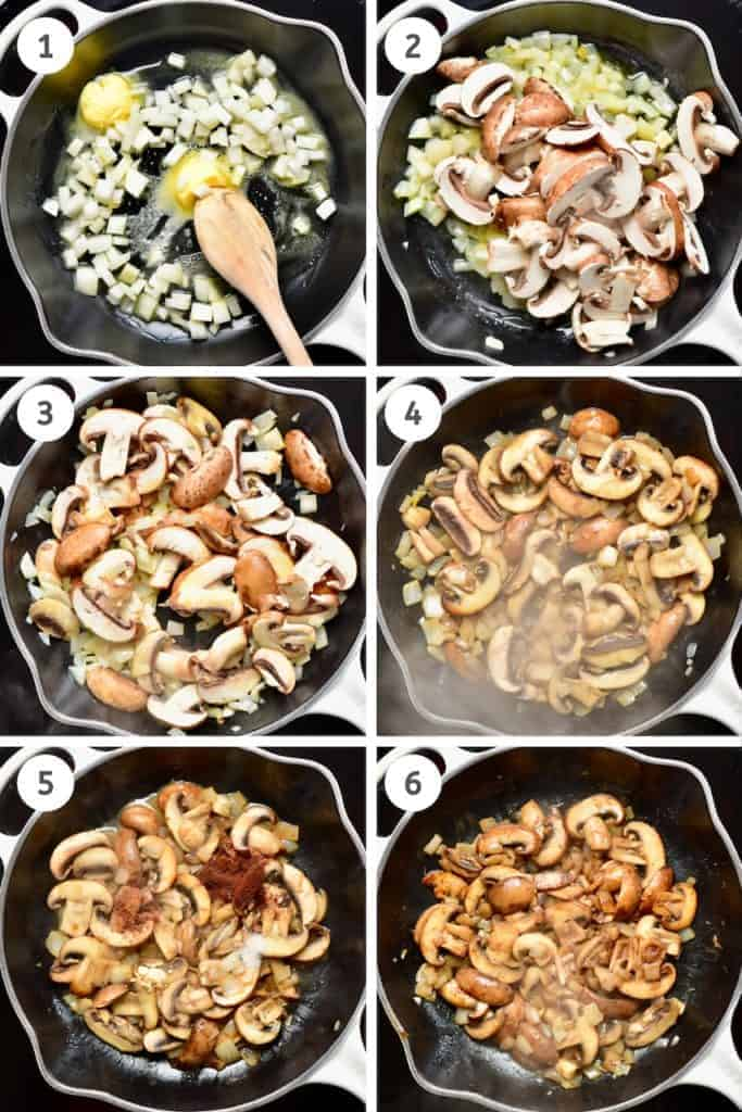 the steps to making a delicious vegan mushroom pasta
