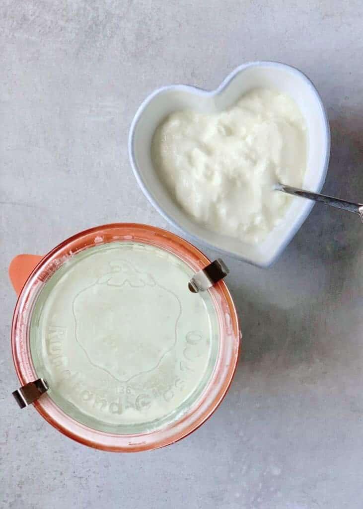 homemade natural yogurt