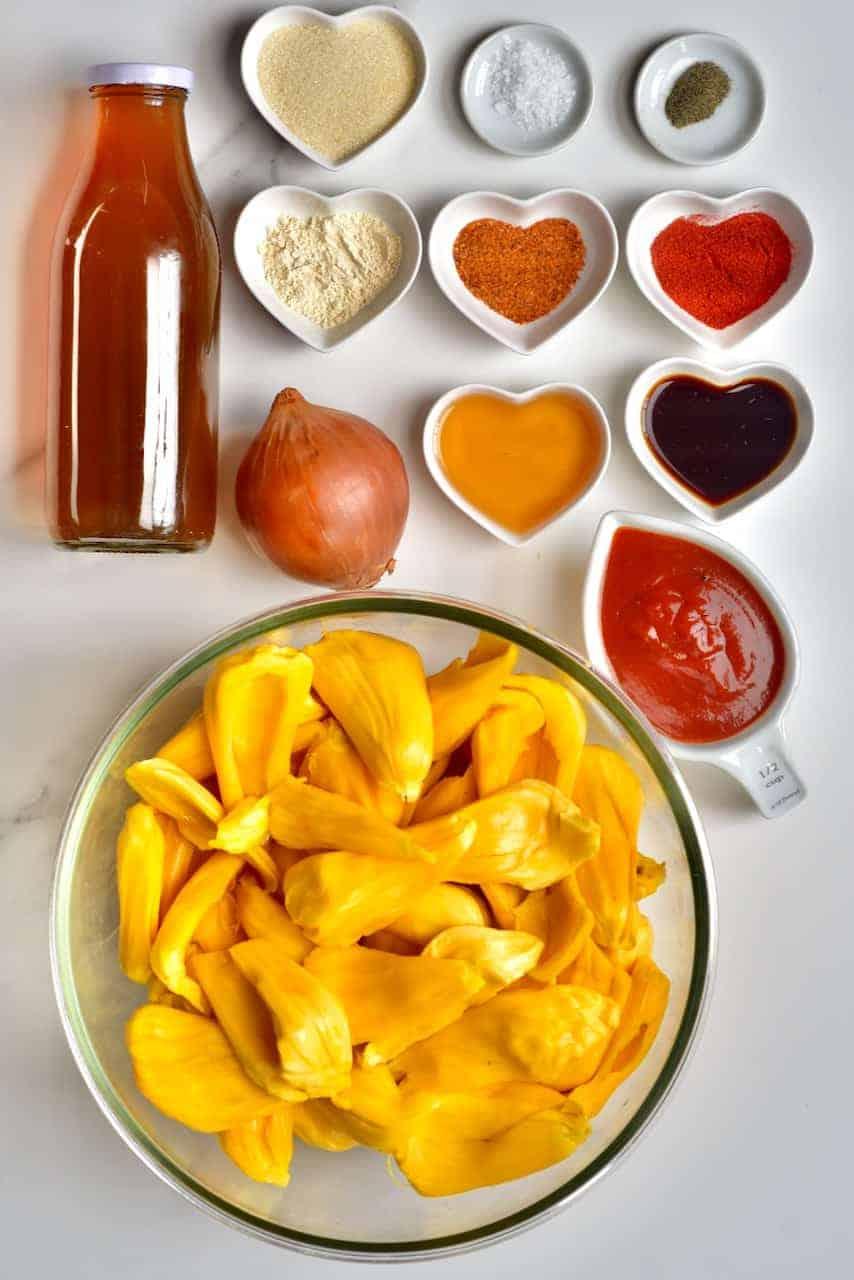 Ingredients for BBQ Jackfruit