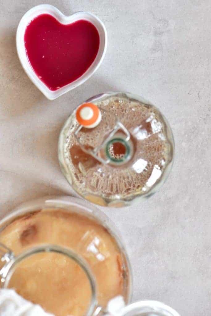 A delicious homemade kombucha DIY flaovured to be a pomegranate kombucha