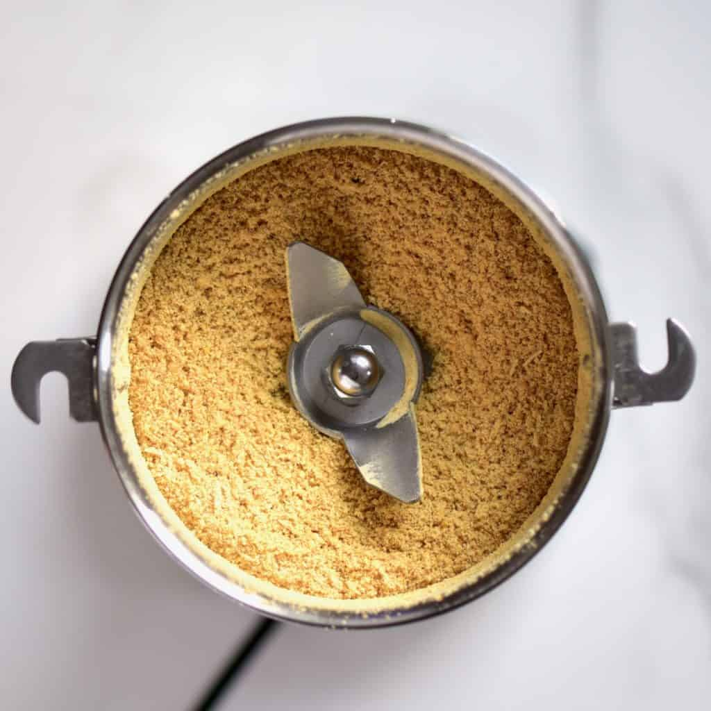 seed powder in spice grinder